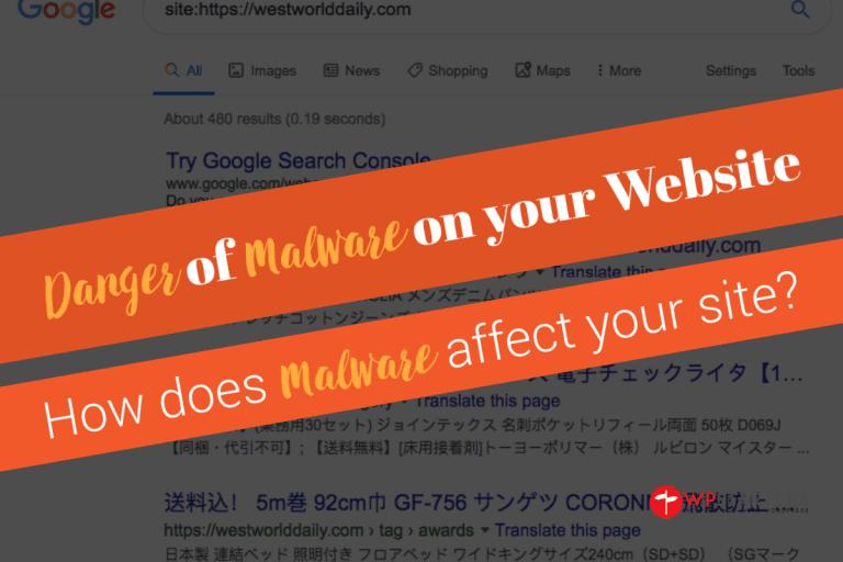 Danger of Malware on your website