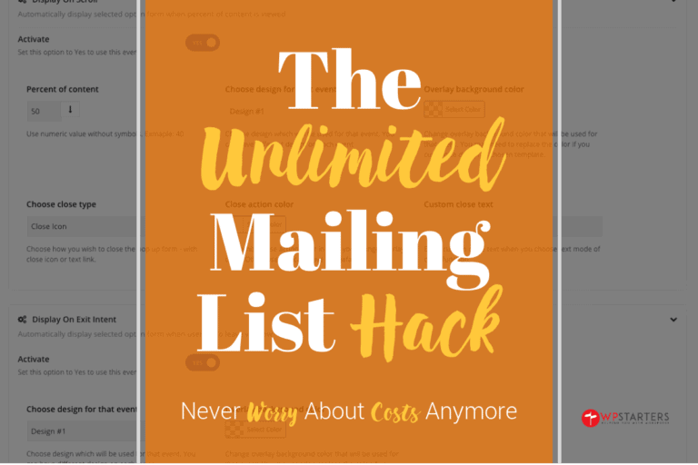Unlimited Mailing List Hack: How to get unlimited email subscribers for free