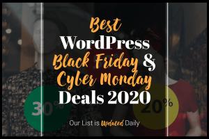 Best WordPress Black Friay Cyber Monday Deals 2020